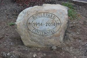 Boulevard Elementary School Boulder Engraving