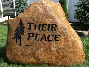 Granite Boulder Engraving